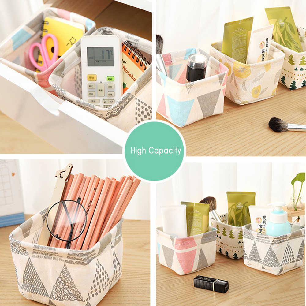 Desktop Kleinigkeiten Lagerung Korb Make-Up Kosmetische Spielzeug Kleinigkeiten Lagerung Boxen Buch Organizer Schreibwaren Container Wäsche Korb