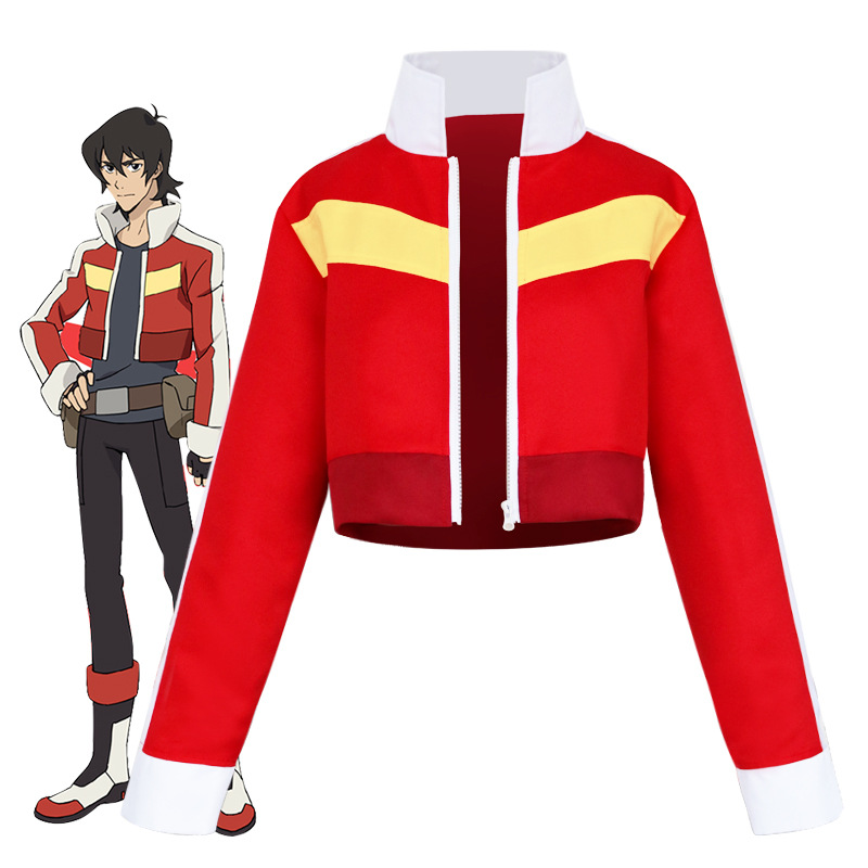 God Of War Jingang Legendary Protector Anime Keith Red Short Coat Cosplay Clothing