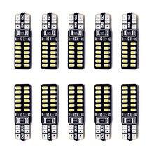 10 шт T10 LED 194 W5W 24 LED CANBUS 3014SMD безотказный автомобильный боковой клиновый свет