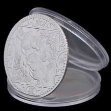 Год крысы памятная монета Китайский Зодиак сувенир вызов коллекционные монеты коллекция Искусство ремесло