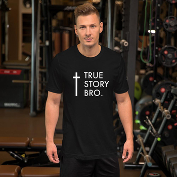 Fashion TRUE STORY BRO Christian Religious Jesus Men's T Shirt Streetwear Short Sleeve O-neck Print Tees Shirts Harajuku 2020 - discount item  20% OFF Tops & Tees