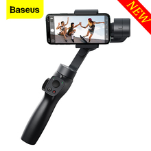 Baseus 3-Axis Handheld Gimbal Stabilizer Outdoor Bluetooth Selfie Stick  w/Focus Pull & Zoom for iPhone Samsung Action Camera