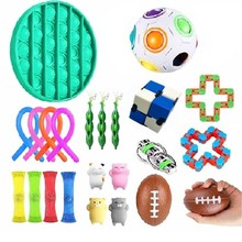 Fidget Toys Anti Stress Toy Set Stretchy Strings Mesh Marble Relief Gift for Adults Girl Children Sensory Stress Relief Toys