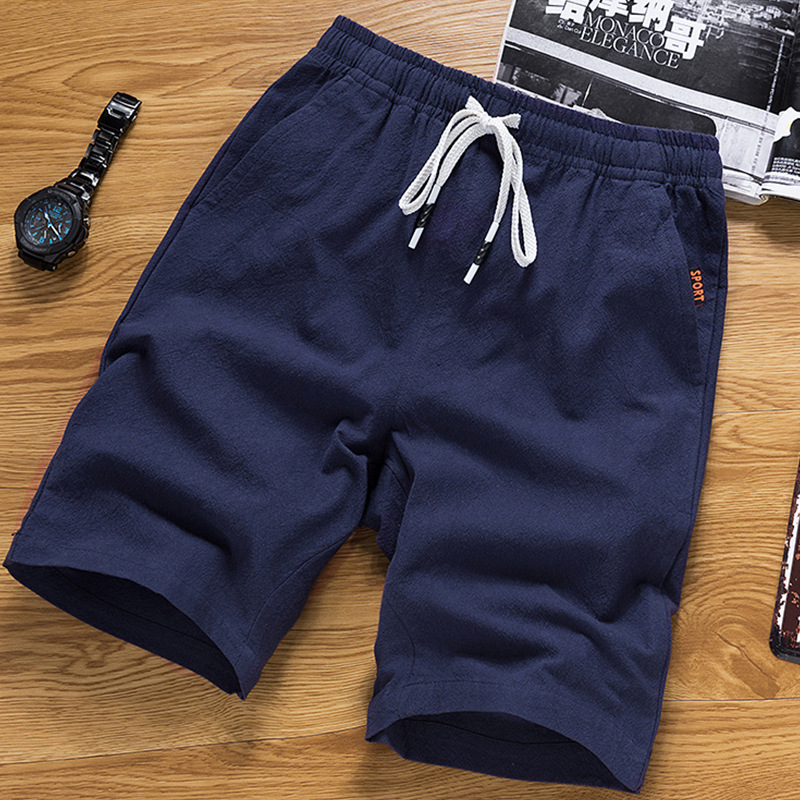 [Pure Cotton Shorts, Special Offer 18 Yuan] Summer Loose-Fit Korean-style Fashion Large Trunks 5 Shorts MEN'S Beach Pants