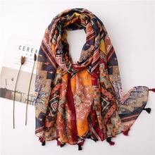 Head Scarf Shawl Wraps Foulards Pashmina Spring Viscose-Neck Muslim Soft Designer Wholesale