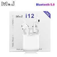 Dro pshipping i12 TWS Bluetooth 5.0 sans fil écouteur Double appels stéréo Smart Touch écouteurs pour iPhone Pk I10 I9s casque