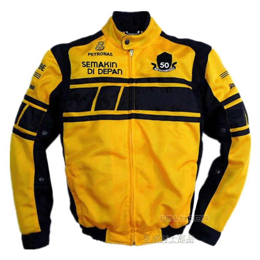 Été moto maille vestes Motocross montagne vélo équitation jaune noir veste Yamaha avec protecteur