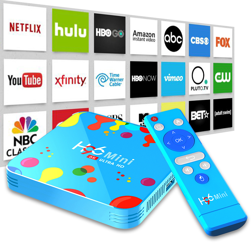 Smart Set Top Box Android 9 9.0 TV Box Allwinner H6 Quad Core 6K 4GB 128GB H96 Mini 2.4G/5G Bluetooth HD Media Player Air Mouse