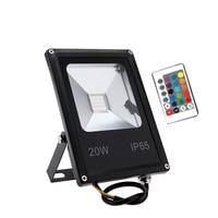 LED Flutlicht 10W 20W 30W 50W RGB Flutlicht Mit Fernbedienung Reflektor IP65 Im Freien Licht AC110V 240V Garten Lampe