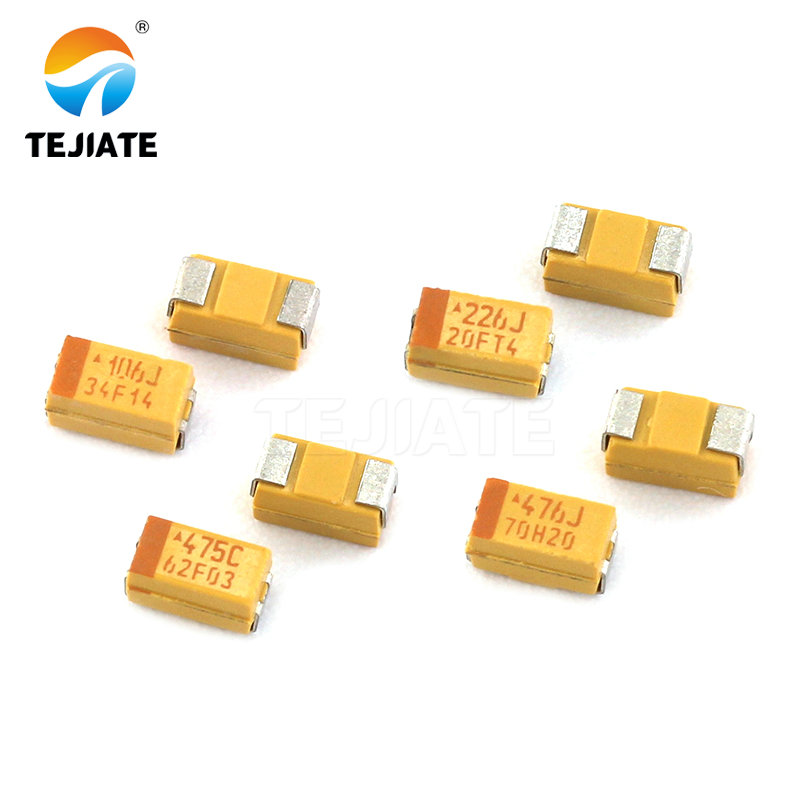 100PCS 1206 SMD tantalum capacitor 16V 4.7UF 475 10/% 3216  A-type
