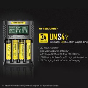Image 4 - Nitecore UMS4 Intelligente Vier Slot Qc Snelle Opladen 4A Grote Stroom Multi Compatibele Usb Charger