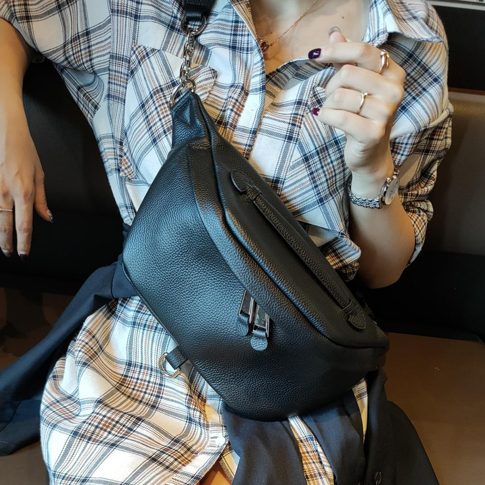 BRIGGS Belt Bag Waist Packs For Women Designer Brand Luxury Bag Quality Women Genuine Leather Bag Fanny Pack Message Bags Women