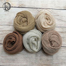 Don&Judy 2/3/4/5pcs Pack Knit Stretch Wraps Set Baby Photo Newborn Photo Props Boy Girl Infant Newborn Photography Blanket Props