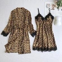 Sleepwear Women Chic Ladies Satin Silk Pajamas Robes Sets Fa