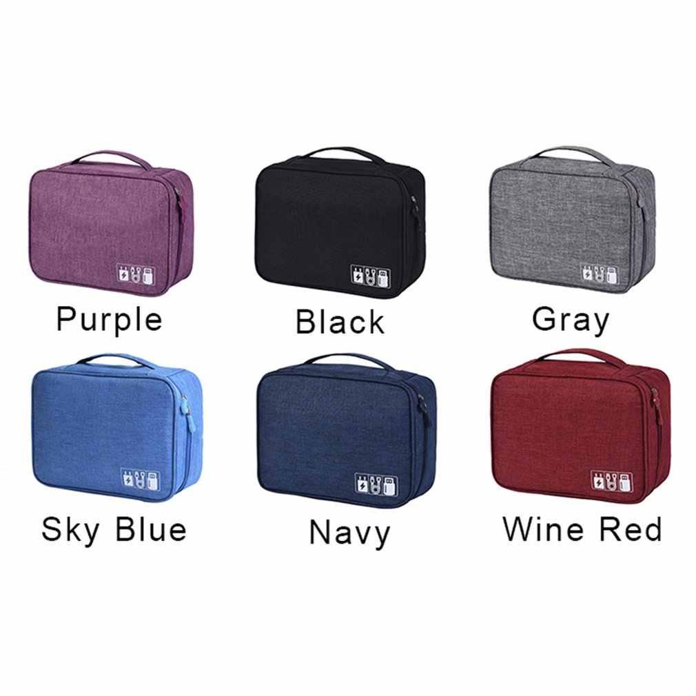 الإلكترونية الرقمية حقيبة التخزين الموجبة البوليستر كابل بيانات حقيبة التخزين متعددة الوظائف شقة الرقمية حزمة