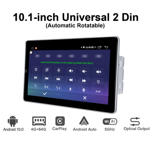 Image 2 - Android 10 Car Radio 2 din GPS Navigation IPS screen 4GB RAM+64GB ROM 1280*720 support 4G/wireless Carplay/ universal video play