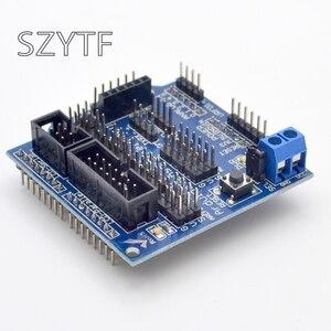Image 4 - Sensor Shield V5.0 sensor de expansión tabla Uno MEGA R3 V5 para Arduino electrónica bloques de construcción de piezas de robot