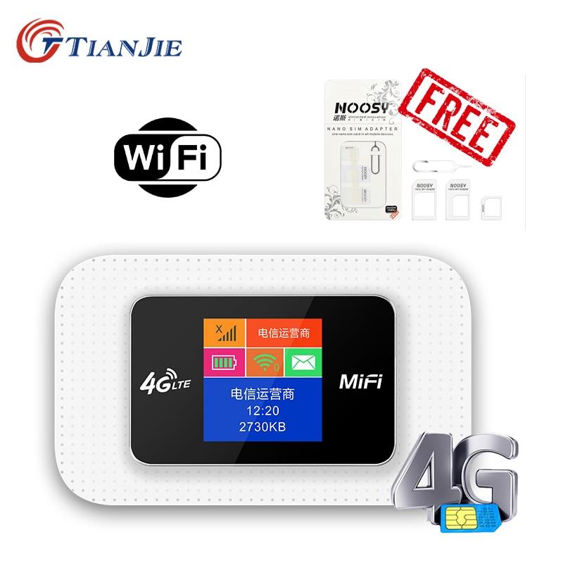 TIANJIE 4G Router Car Mobile Hotspot 150Mbps Broadband Pocket Mifi Unlocked LTE Modem Wireless Mini Wifi