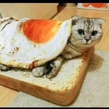 Pet Cat Mat Bedroom Short Plush Warm Cute Pouch Egg Yolk Quilt Puppy Rest Sleep Supplies