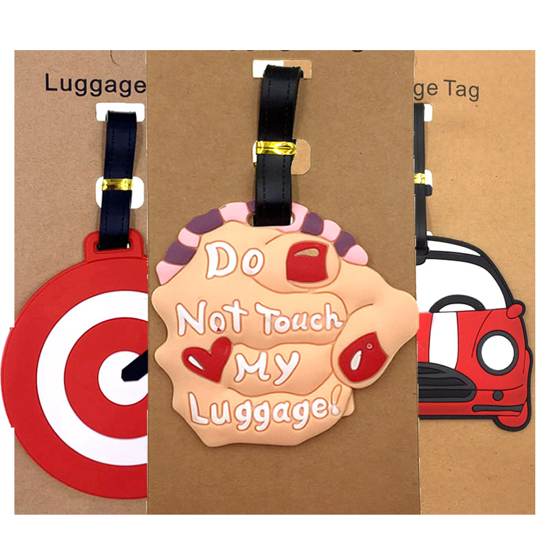 Cartoon Do Not Touch My Luggage Tags Suitcase ID Addres Holder Portable Label Silica Gel Baggage Boarding Travel Accessories