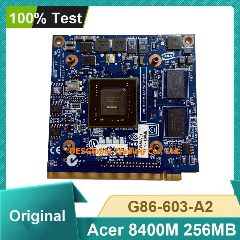 Für Acer Aspire 7520G 7520 7720 7720G Serie Laptop GeForce 8400 8400M GS G86-603-A2 256MB VGA graphics Grafikkarte 100% Test