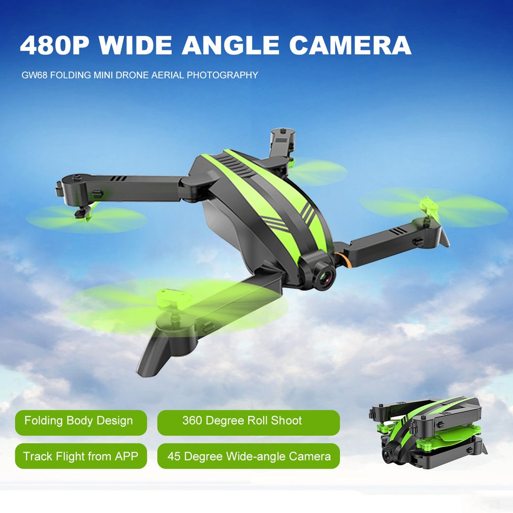 Global Drone GW68 FPV 480P/720P Camera RC Folding Mini Altitude Hold Aerial Photography Wide Angle Helicopter Toy