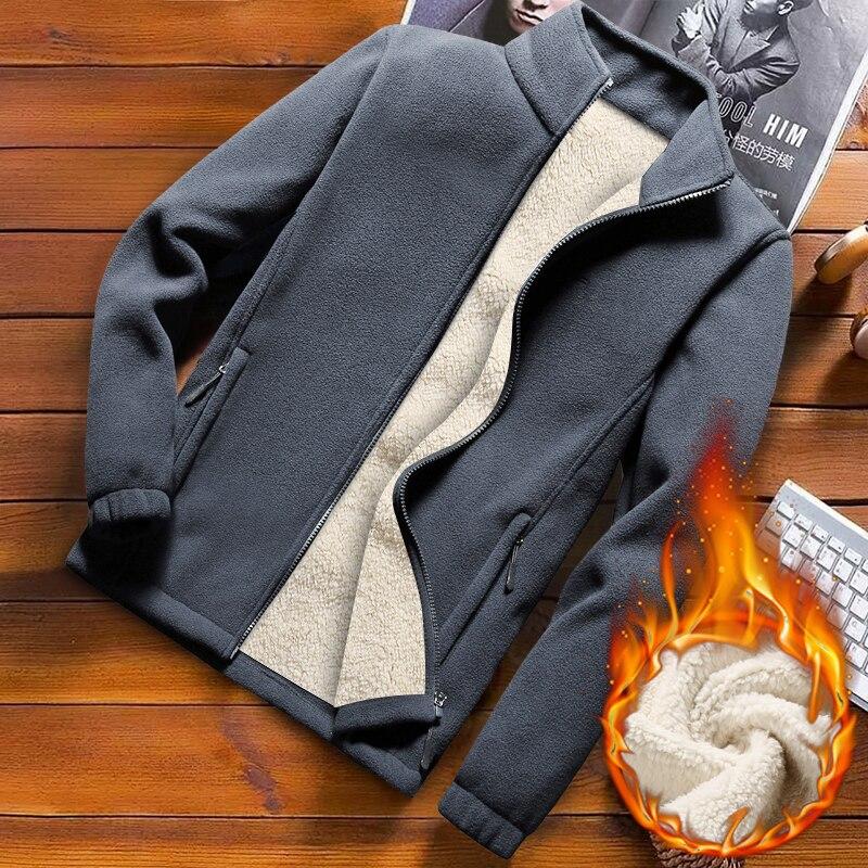 Winter Fleece Jacket Men Soft Shell Casual Warm Thermal Polar Coat Streetwear Plus Size 9 XL Male Windbreaker Tactical Jackets