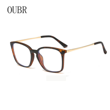 OUBR Mens computer optical glasses frame brand designer anti-blue ladies high quality simple