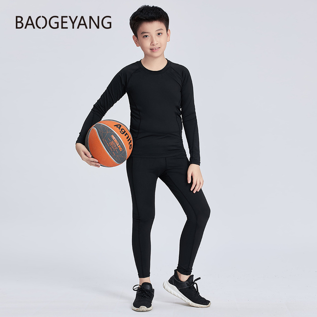 Best Price E2228 Autumn Children S Sports Suit Sportswear Gym Clothing Workout Compression Running Suit Top Pants Basketball Quick Dry Legging Cicig Co