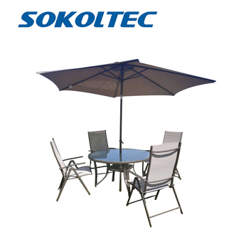 SOKOLEC outdoor furniture set chair portable fishing camping barbecue chair garden folding table garden umbrella giantex portable outdoor furniture set table 4 chairs set garden camp beach picnic folding table set with carrying bag op3381re