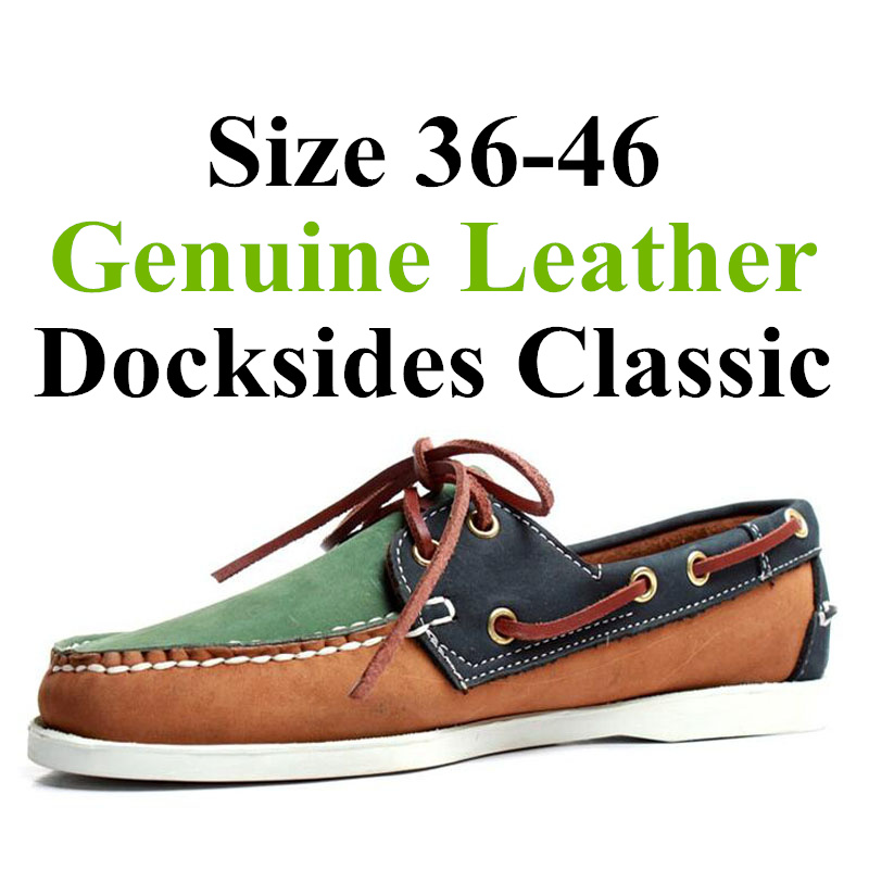 Men Women Spinnaker Genuine Leather Docksides Classic Loafers Boat Shoes 2019A108