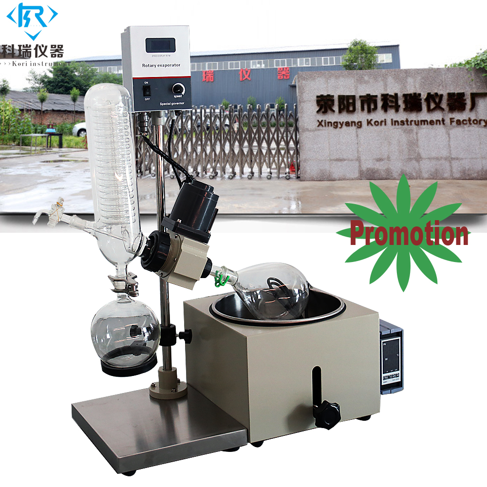 Re201D Manual Rotovap Use Of Rotary Evaporator With Rotary Evaporating Flask For Cbd Thc Hemp Essential Oil Distillation