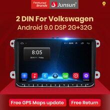 JunsunสำหรับVW/Volkswagen/กอล์ฟ/Polo/Tiguan/Passat/B7/B6/ที่นั่ง/leon/Skoda/Octaviaรถวิทยุเครื่องเล่นวิดีโอมัลติมีเดียGPS Android 9.0