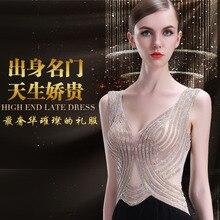 2020 מכירה חצי Vestido לונגו מנגה Longa סוף סקסי אופנה סלבריטאים המפלגה ארוחת ערב מארח ביצועי שמלת ערב נשי 2020 חדש