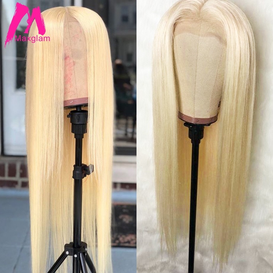 Blonde Lace Front Human Hair Wigs 613 Wig Brazilian Pre Plucked Straight Short Lace Frontal Remy Long For Black Women Hd Full