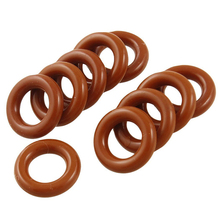 Flexible sealing ring / O-ring, made of silicone, 8 x 14 3 mm, brick red, 10 pieces