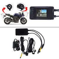 """3 """"1080 P Hd Moto Macchina Fotografica Dvr Motore Dash Cam con Speciale Dual-Track Anteriore Posteriore Registratore Moto elettronica"""