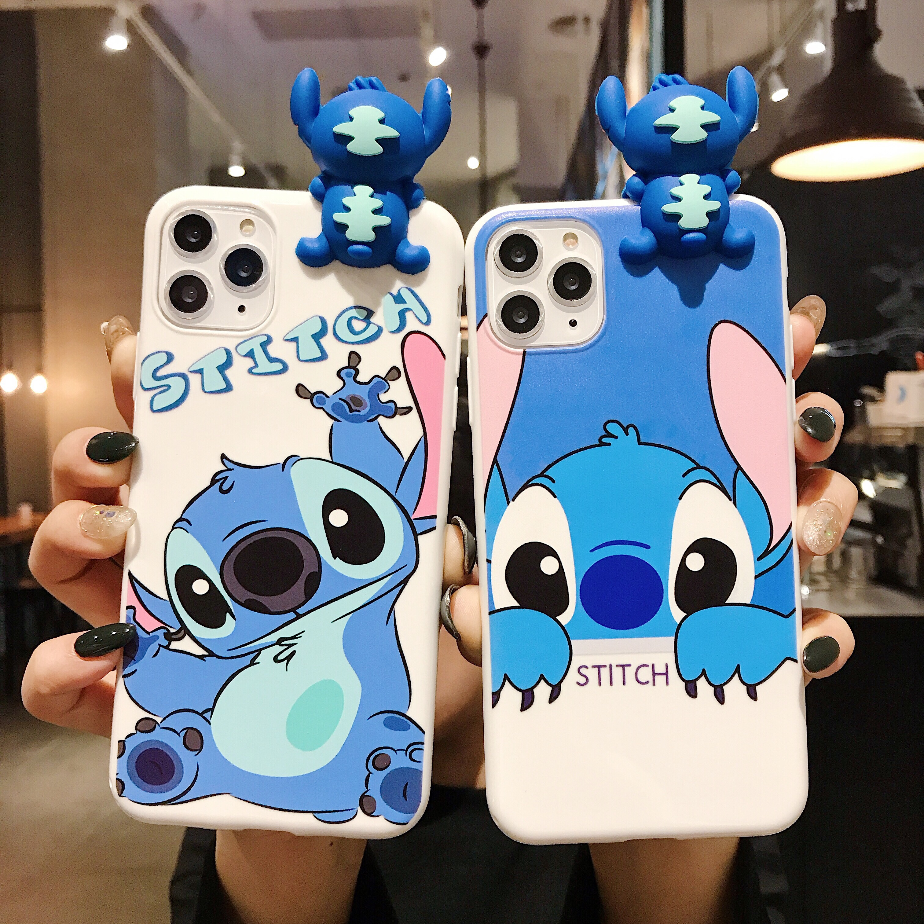 3D Doll Matte Stitch Robot Cat Cute Cartoon Silicone soft phone case for iphone X XR XS 11PRO MAX 6S 7 8 plus cover coque fundas|Wallet Cases|   - AliExpress