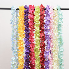 190cm Artificial Flower Rattan Violet Wall Hanging Flower Vine Simulation Hydrangea Wedding Party Flowers Home Decoration garland flowers wedding decoration artificial hydrangea vine party plastic flowers wall decor rattan silk flower wisteria wreath
