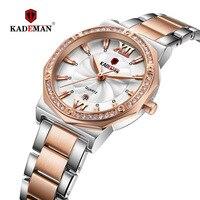 KADEMAN New Watch Manufacturer Wholesale Calendar Drill Steel Belt Waterproof Watch Women Watch Unique Watch Luxury Brand
