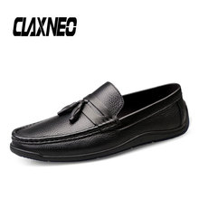 Buy CLAXNEO Man Shoes Summer Autumn Casual Leather Shoe Male Moccasins Tassel Design Boat Footwear Loafers Big Size directly from merchant!