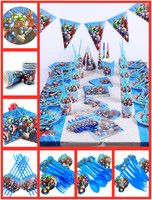 82pc/set the Avengers Birthday Party Supplies Decorations Kids Tableware Tablecloth Plates Cups Banner Baby Favors Gifts Boy