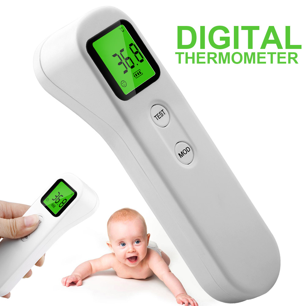 Body Ir Infrared Thermometer Digital Non-Contact  Forehead Temperature Meter Lcd Backlight Fever Head Mouth Measurement Tool