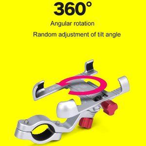 Image 3 - سبائك الألومنيوم دراجة نارية حامل 360 درجة تدوير المقود دراجة دراجة الهاتف جبل لتحديد المواقع حامل آيفون سامسونج