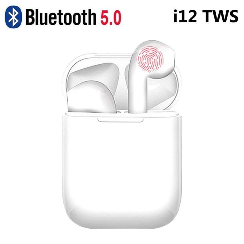 i12 TWS <font><b>Bluetooth</b></font> Headphone Touch Wireless <font><b>Bluetooth</b></font> <font><b>5.0</b></font> <font><b>Earphone</b></font> Mini Earbuds Headset For All Smart Phone PK i7s <font><b>i9s</b></font> i11 image