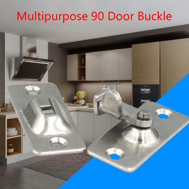 Mini Stainless Steel 90 Degree Right Angle Buckle Hook Lock Bolt For Door Latch