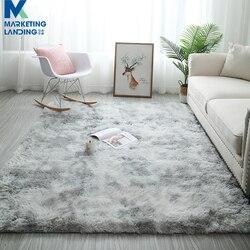 Szary pluszowe dywany do salonu miękkie puszyste dywan Home Decor dywan z długim włosiem sypialnia Sofa stolik mata podłogowa dywaniki|Dywan|Dom i ogród -