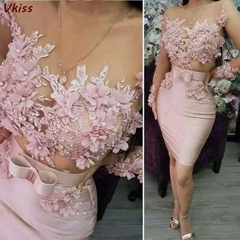 2020 Pink Prom Dresses Elegant Women Formal Party Night Long Appliqus Robes Mermaid Evening Gowns Satin Vestidos Gala