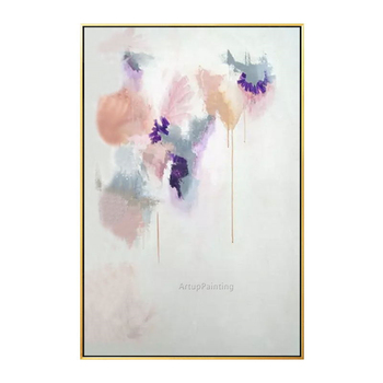 Abstract flower acrylic wall art modern hand painted canvas painting cuadros abstractos pictures for living room home decor