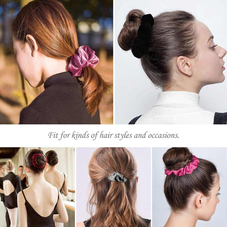 20/16/12/6PCS Mode Samt Scrunchie Vintage Elastische Haar Gummi Bands Haar Seile Haar Krawatten gum Für Frauen Haar Zubehör